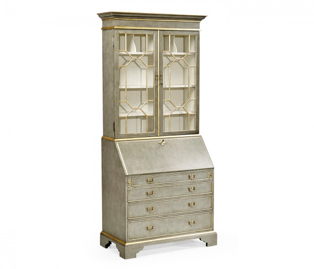 Georgian Grey & Gilded Secretary