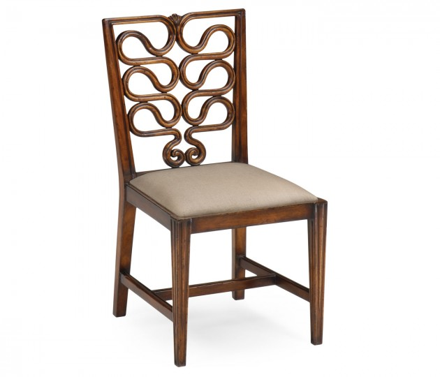 Serpentine Open Back Dining Chair (Side)