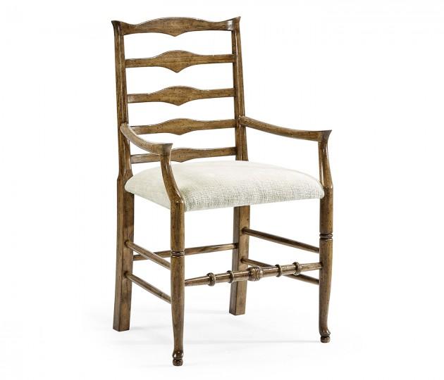 Triangular Ladderback Arm Chair