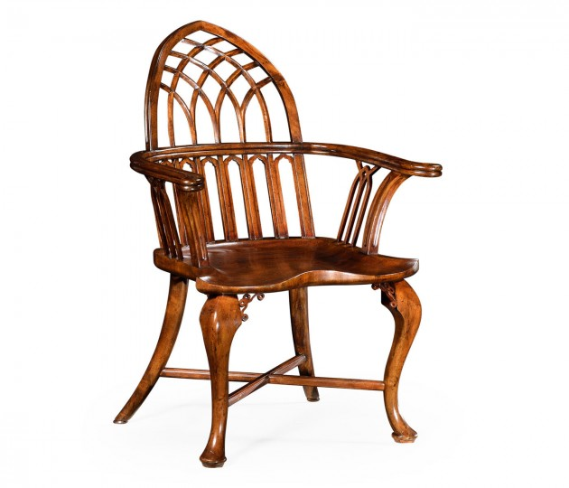 Gothic Windsor Walnut Armchair