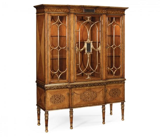 Satinwood Display Cabinet