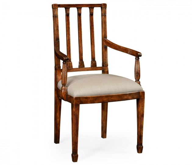 Dining Chair with Column Back (Arm)