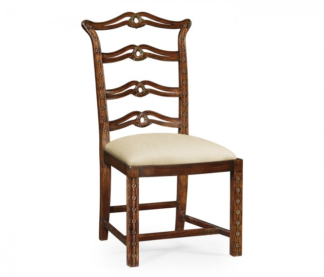 Chippendale Style Mahogany Pierced Back Dining Side Chair