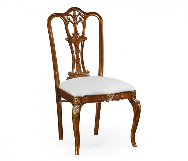 Mahogany 18th century style dining side chair