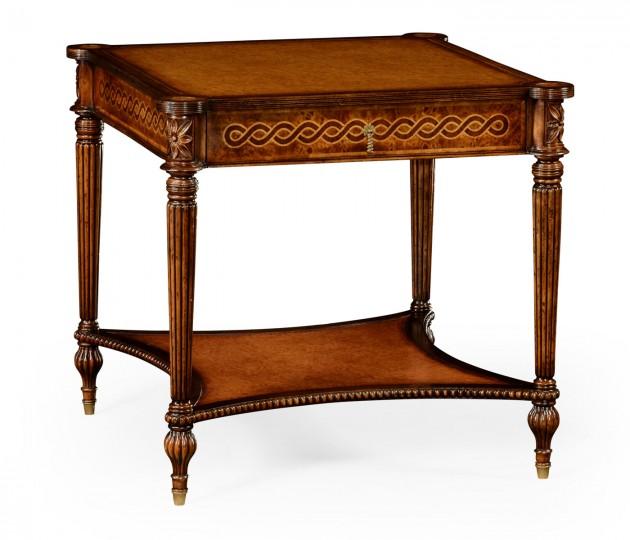 Rope Veneered Square Side Table