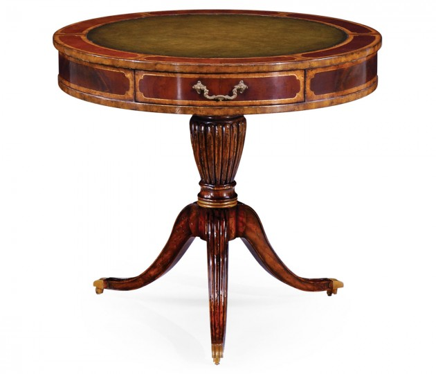 Mahogany drum table (Green)