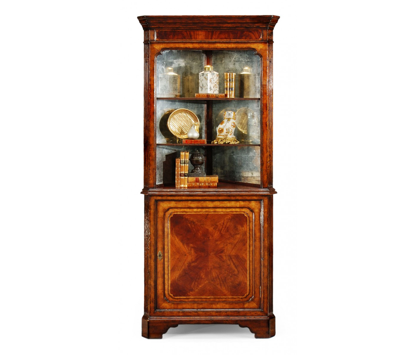 how many members are in the cabinet mahogany open corner cabinet with cupboard 16692