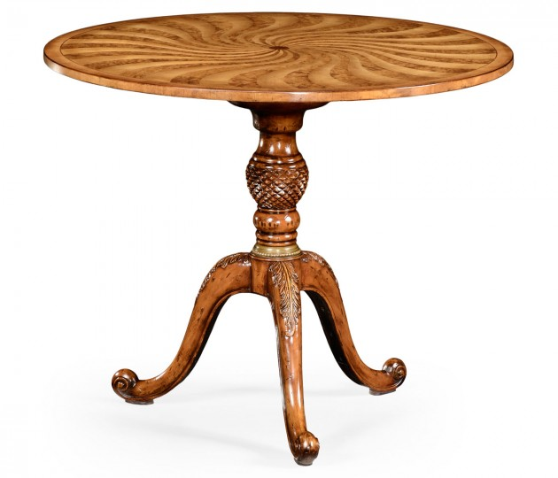 Spiral inlaid centre table