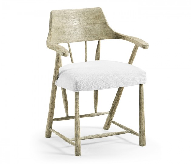 Dining Chair in Grey Oak, Upholstered in COM by Distributor