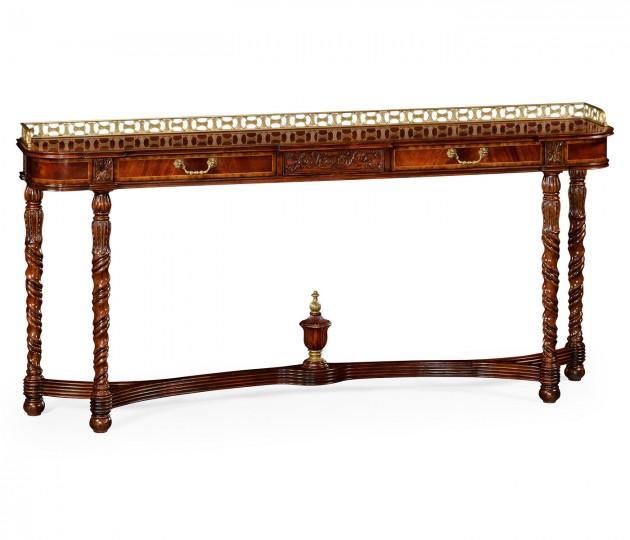 Classical mahogany console