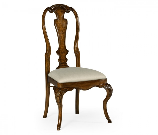 William & Mary Inlaid Chair (Side)