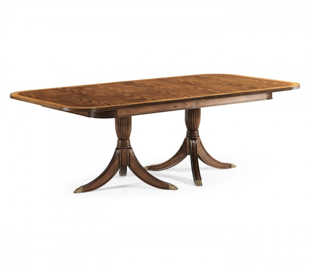 Windsor Regency Two-Leaf Walnut Extending Dining Table