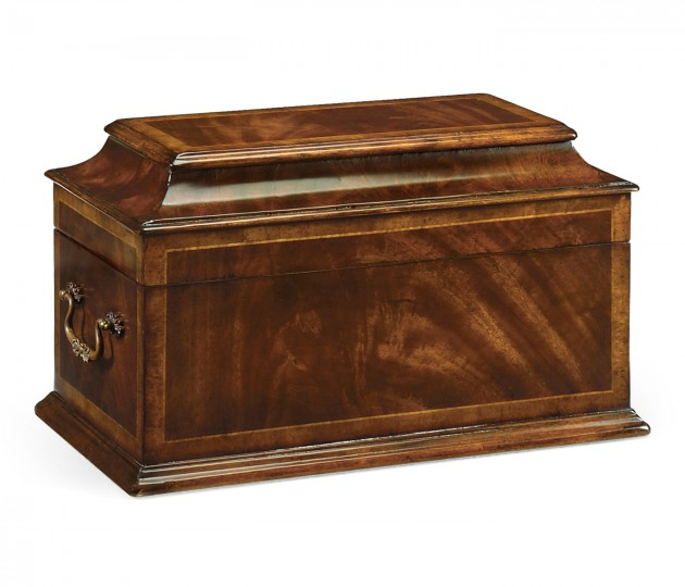 Crotch Mahogany Coffer Jewellery Box