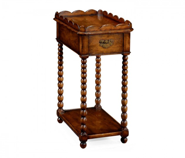 Queen Anne Rectangular Lamp Table