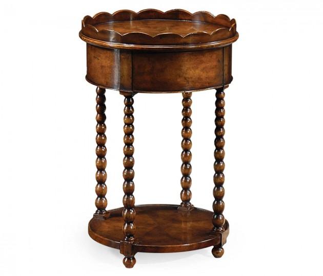 Bobbin Turned Round Lamp Table