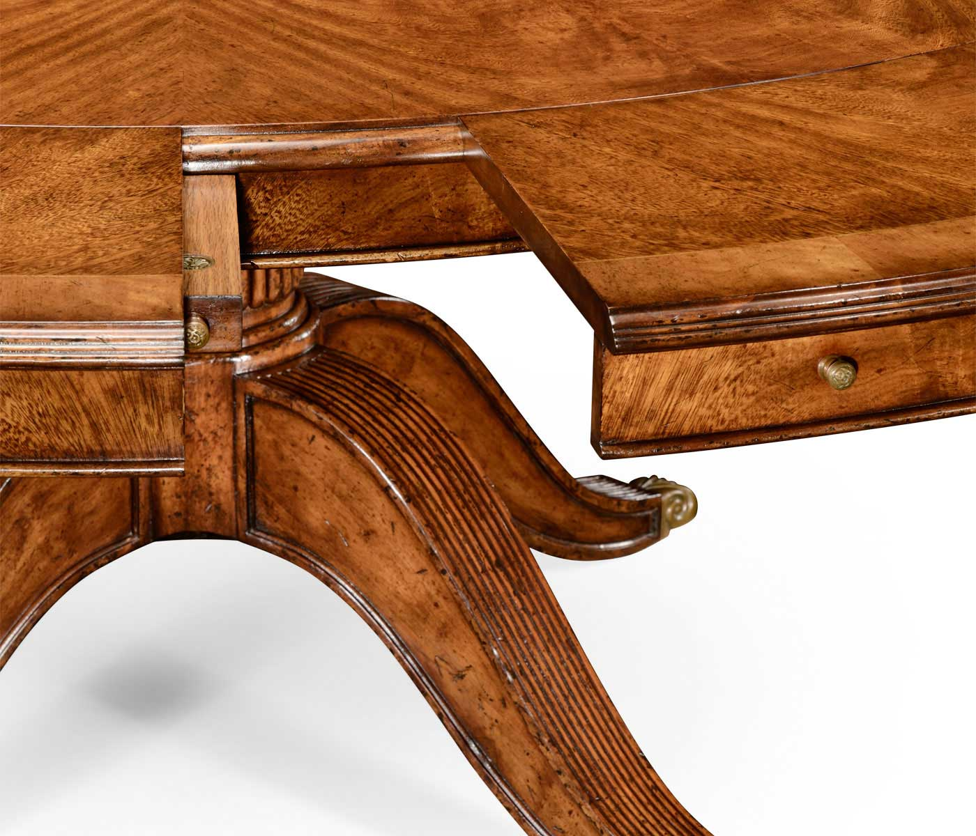 66 Quot Walnut Extending Circular Dining Table With Storage