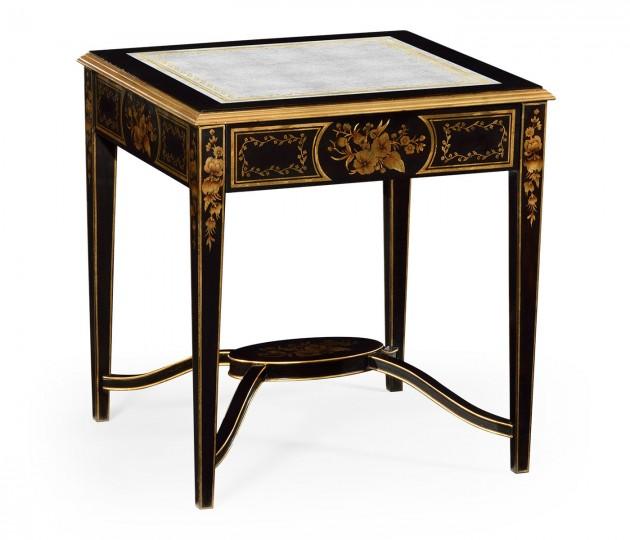 Black & �glomis� Square Side Table