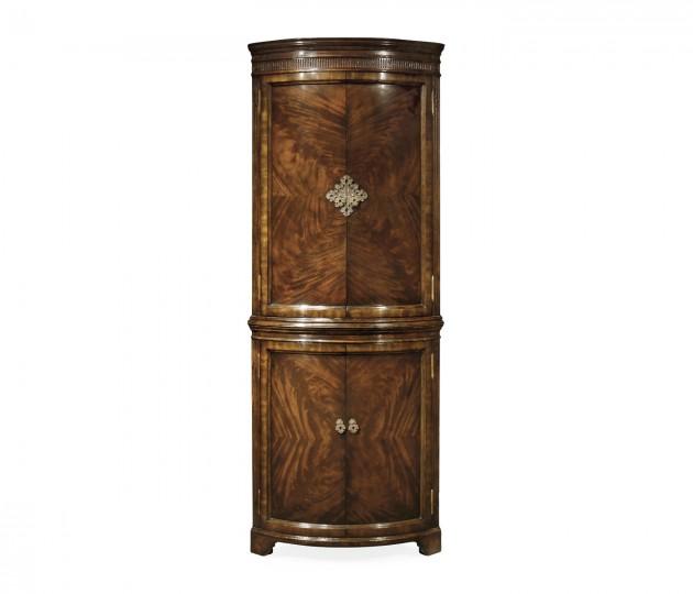 Mahogany Curved Corner Cabinet