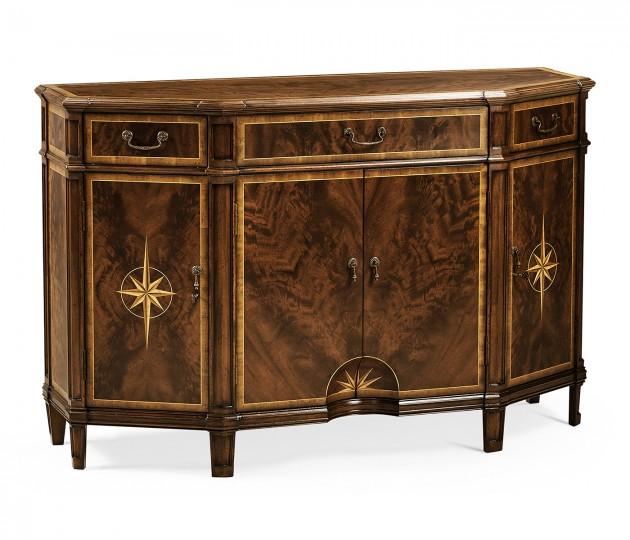 Starburst Mahogany Side Cabinet