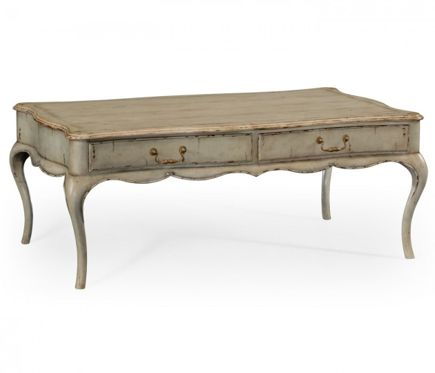 French Painted Rectangular Coffee Table