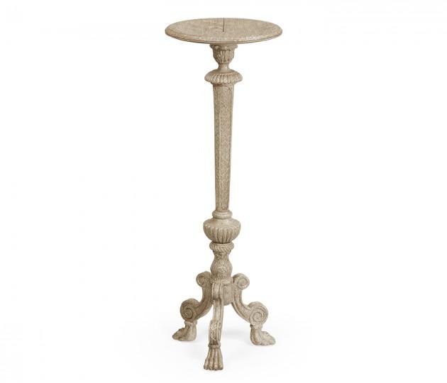 Baroque Grey Oak Candlestand