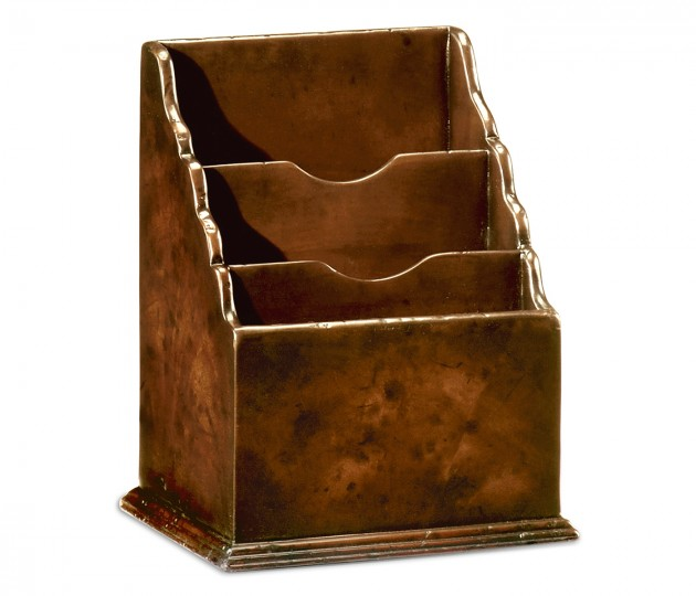 Small Antique Mahogany Letter Rack