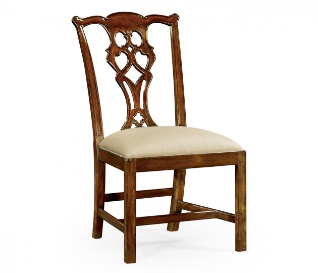 Chippendale Style Classic Mahogany Side Chair
