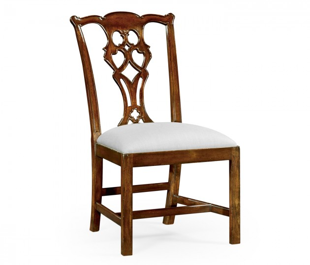 Chippendale style classic mahogany chair (Side)