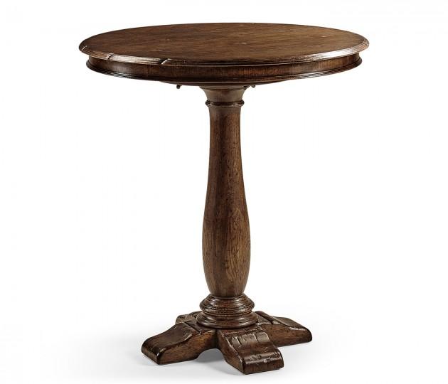 """36"""" Round dark oak bar table"""