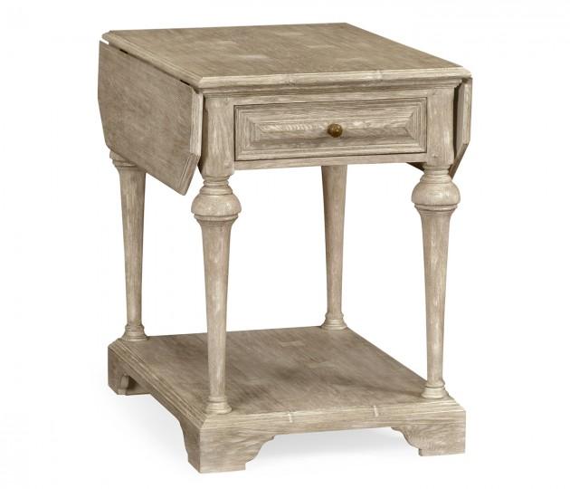 Elizabethan style greyed oak pembroke table
