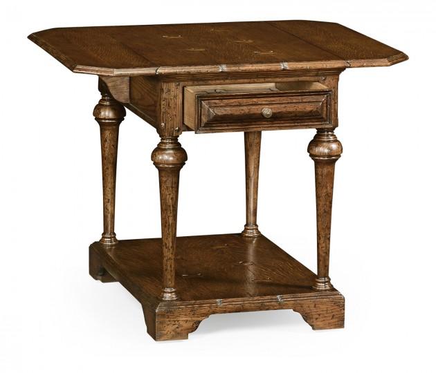 Elizabethan pembroke brown oak table