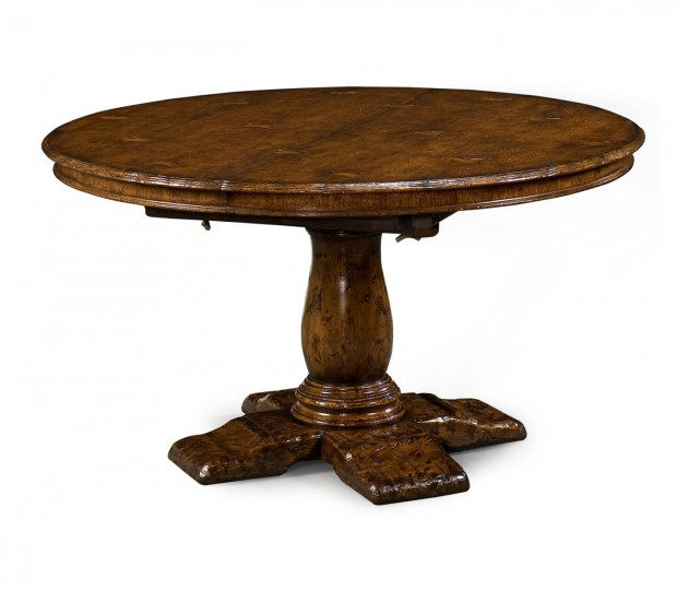 "48"" Extending Dark Oak Country Table"