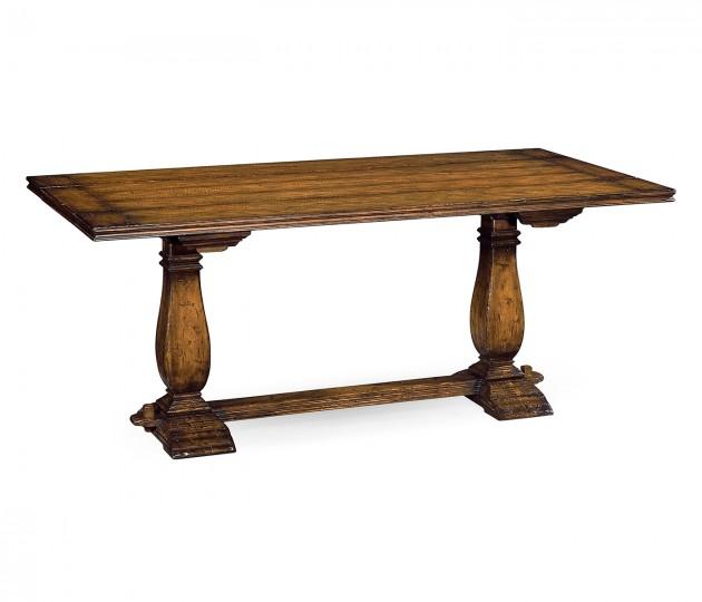 Figured Walnut Hunt Table