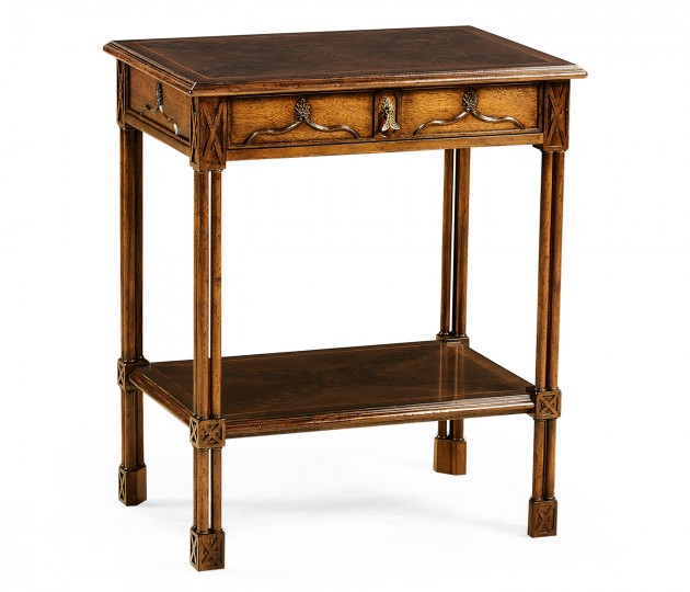 Chippendale gothic rectangular side table