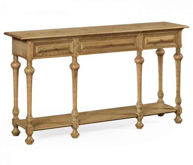 Natural Oak Elizabethan Style Console