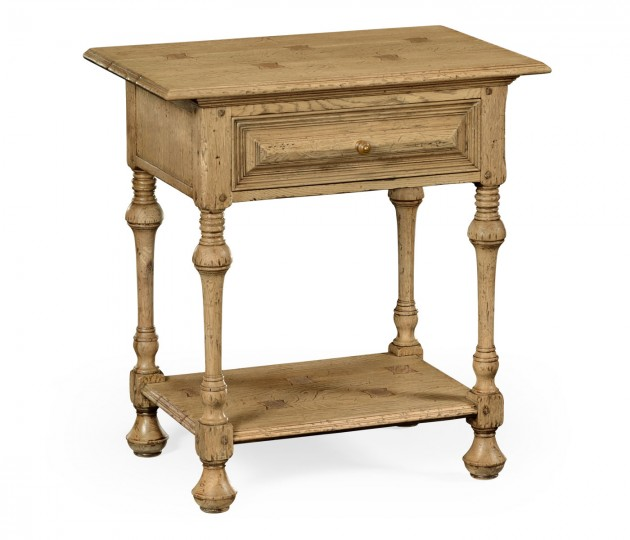 Natural Oak Elizabethan Style Side Table