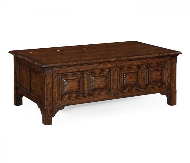 """Dark Oak """"Coffer"""" Coffee Table"""