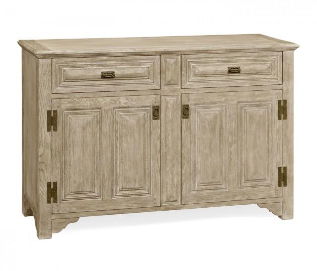 """Tudorbethan"" greyed oak side cabinet"