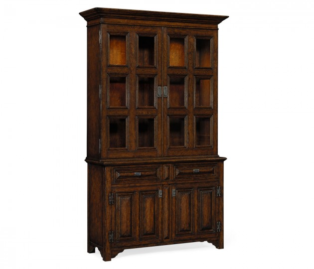 Tudorbethan Dark Oak China Cabinet