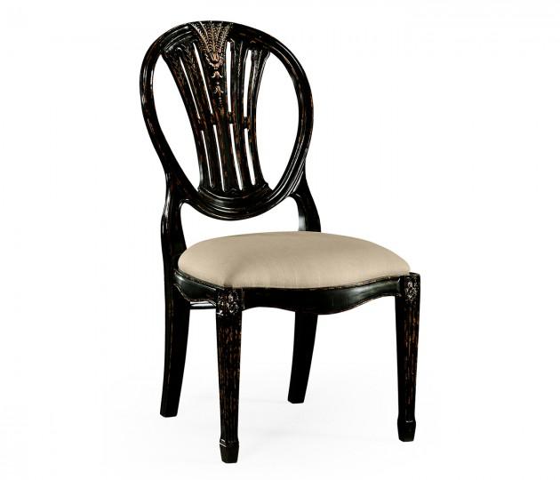Hepplewhite Wheatsheaf Side Chair (Black)