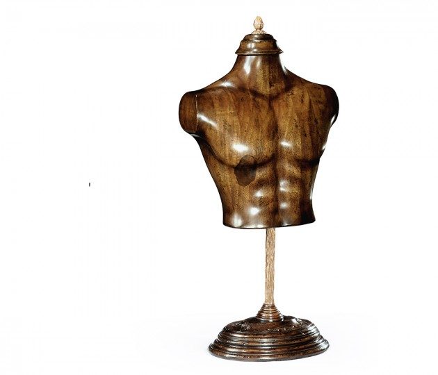 Small Male Wooden Mannequin & Torso on Stand