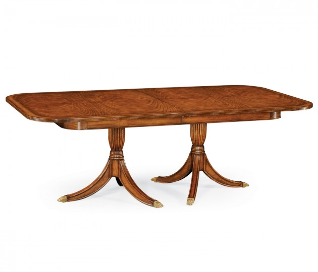 Regency Two Leaf Walnut Extending Dining Table