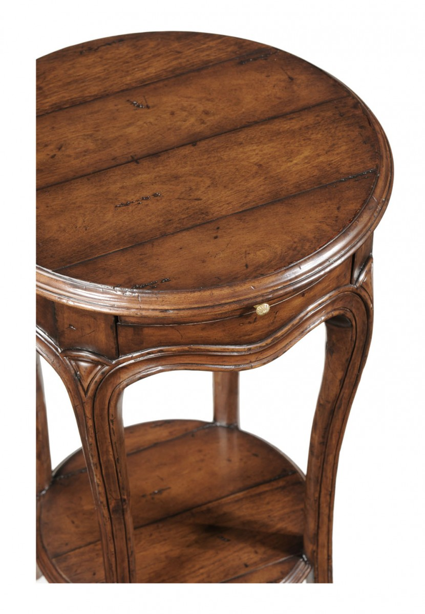 French small round lamp table
