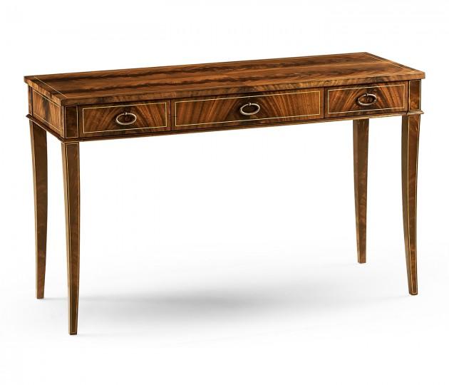 Mahogany narrow desk or side table