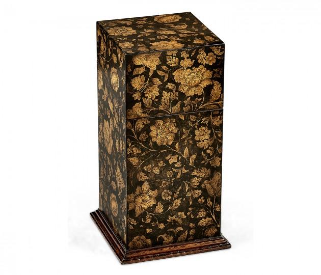 Single Glass Decanter & Black Chinoiserie Case