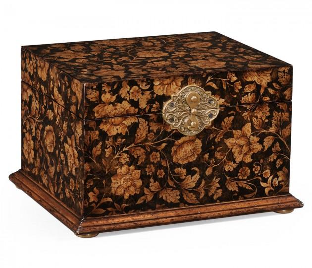 Black Chinoiserie Jewellery Box