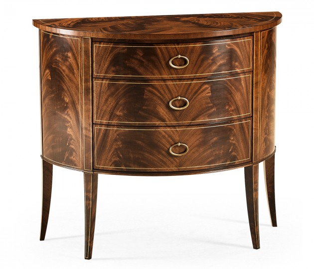 Biedermeier style mahogany demilune cabinet