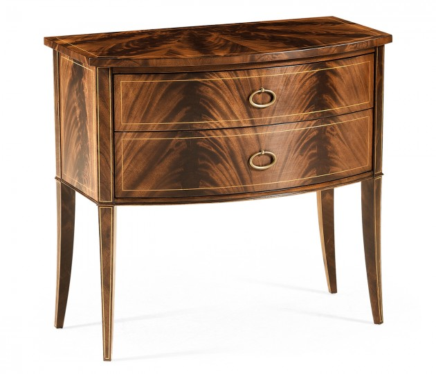 Biedermeier style mahogany bow front chest