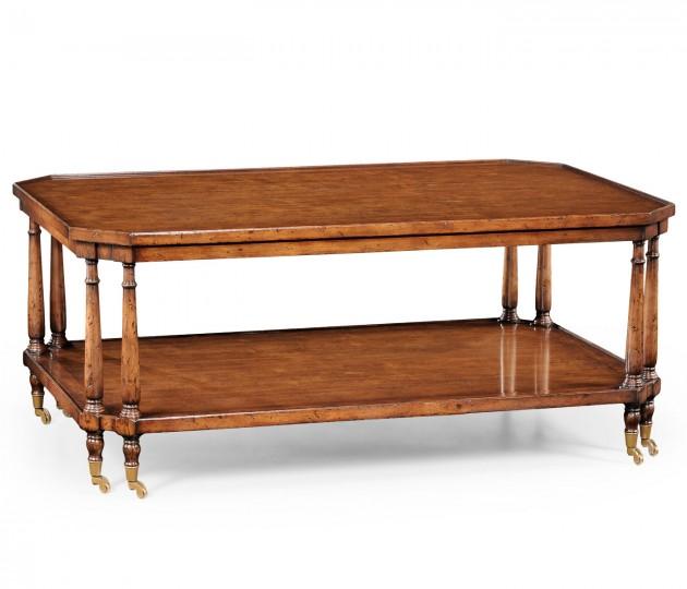 Rectangular Coffee Table on Castors