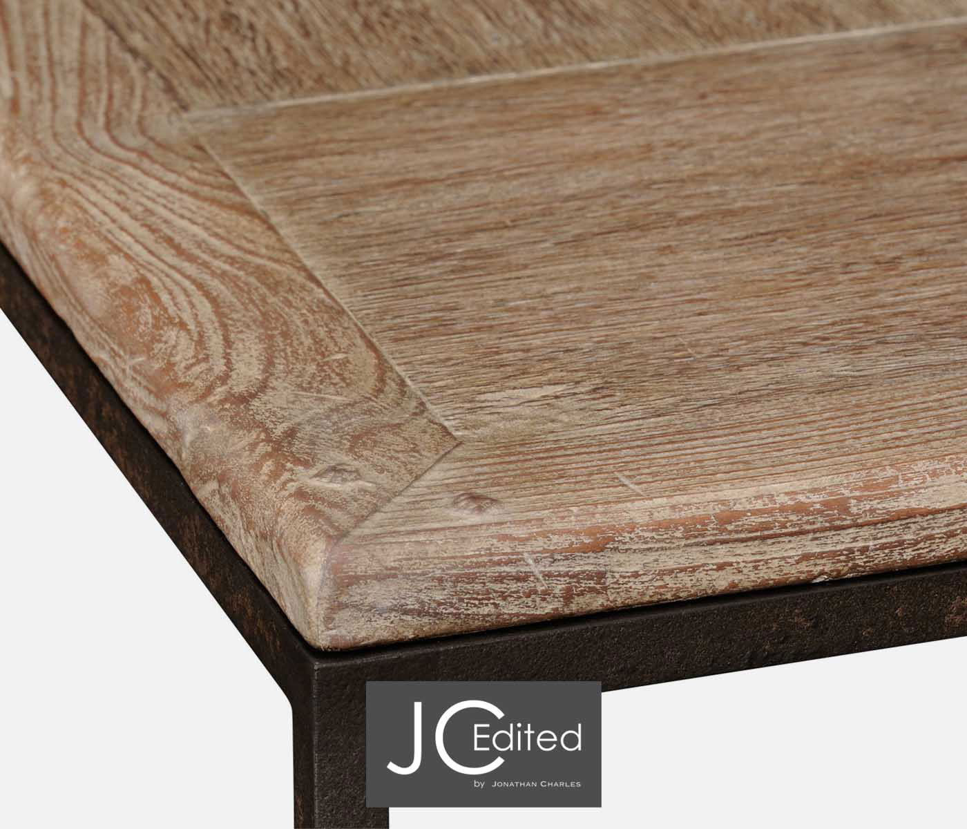 Limed Oak Amp Iron Coffee Table